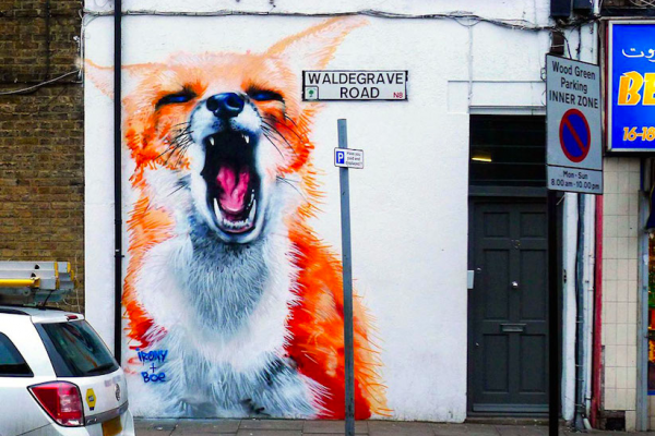 Animal Murals by Irony & Boe in the Streets of London