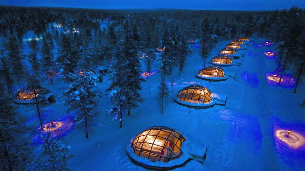 Arctic igloo, Lapland bizarre culture