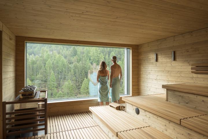 spa hostel with an Alpine backdrop in Saas-Fe, Switzerland bizarre culture