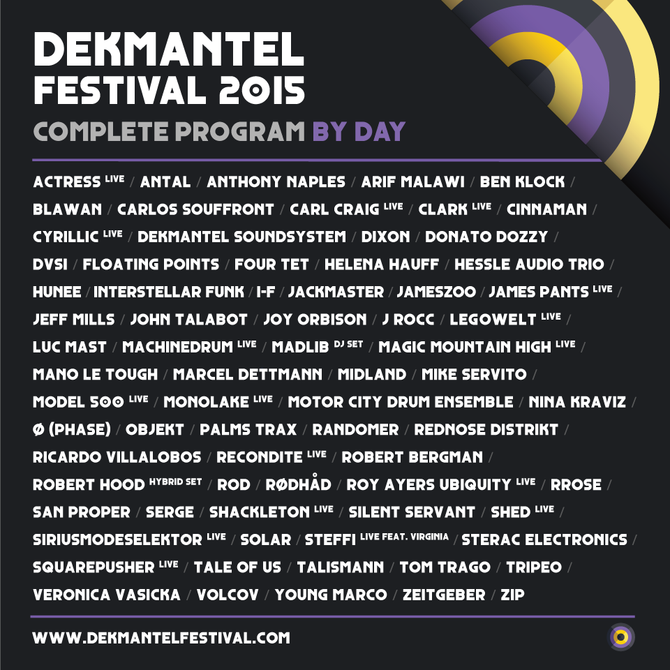 Dekmantel Festival 2015