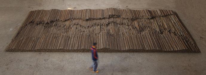 Ai Weiwei 19 September 2015 to 13 December 2015 Ai Weiwei, Straight, 2008-12 Steel reinforcing bars, 600 x 1200 cm Lisson Gallery, London Image courtesy Ai Weiwei © Ai Weiwei