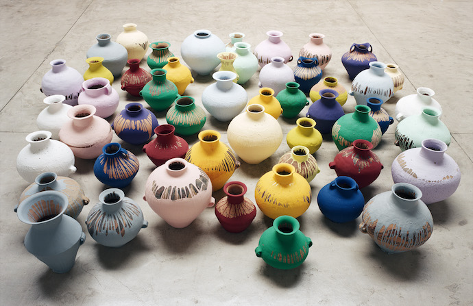 Ai Weiwei 19 September 2015 to 13 December 2015 Key. 21.01 / Cat. 0 Ai Weiwei, Coloured Vases, 2006 Neolithic vases (5000-3000 BC) with industrial paint, dimensions variable Courtesy of Ai Weiwei Studio Image courtesy Ai Weiwei © Ai Weiwei