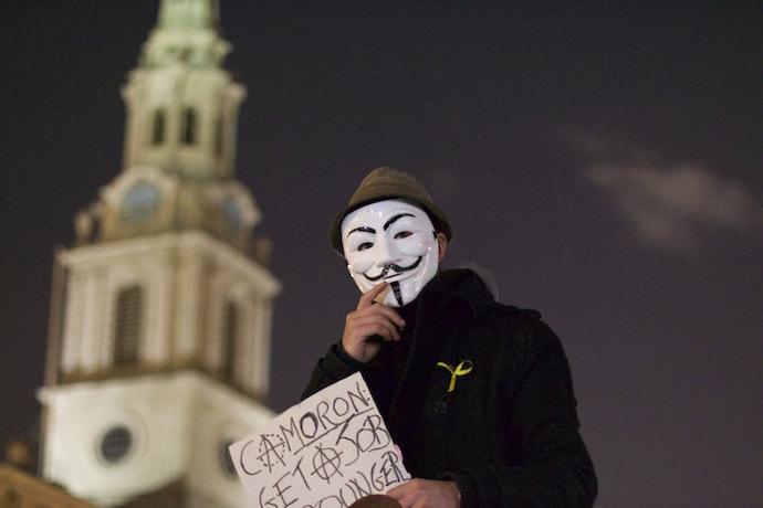 Anti-Cameron protests across London
