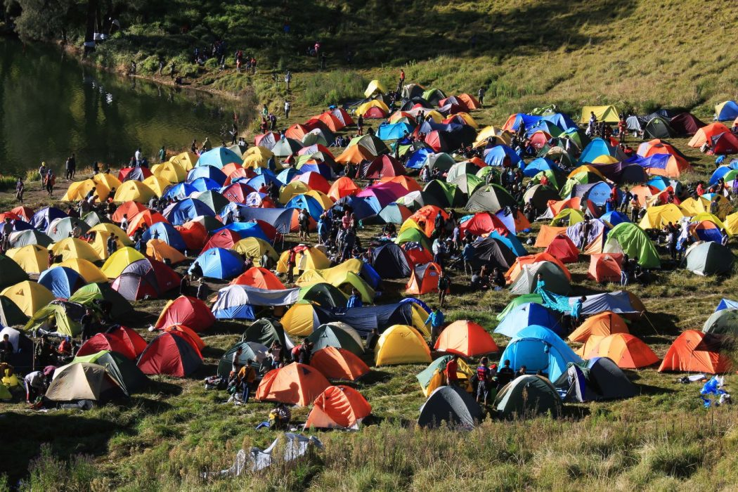 The environmental cost of abandoning your tent at a music